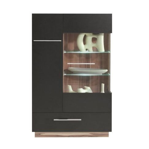 buffet haut design 2 portes black achat vente buffet. Black Bedroom Furniture Sets. Home Design Ideas