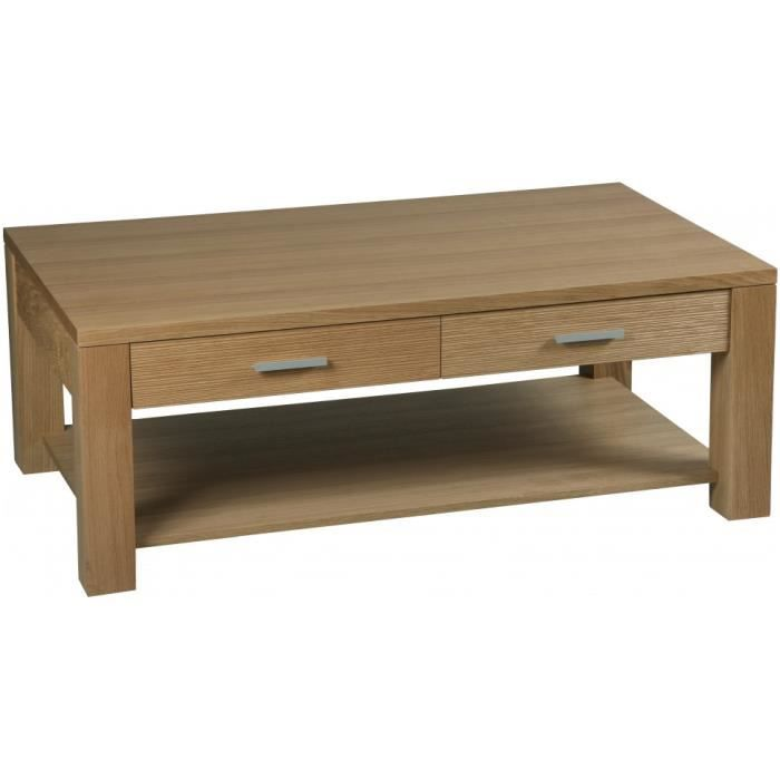 Table basse double plateau ch ne massif fsc achat for Table basse double plateau scandinave