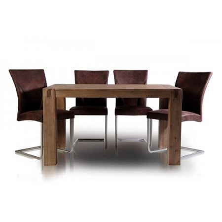 Table manger en bois massif empire brun 140 cm achat vente table mang - Table a manger en bois ...