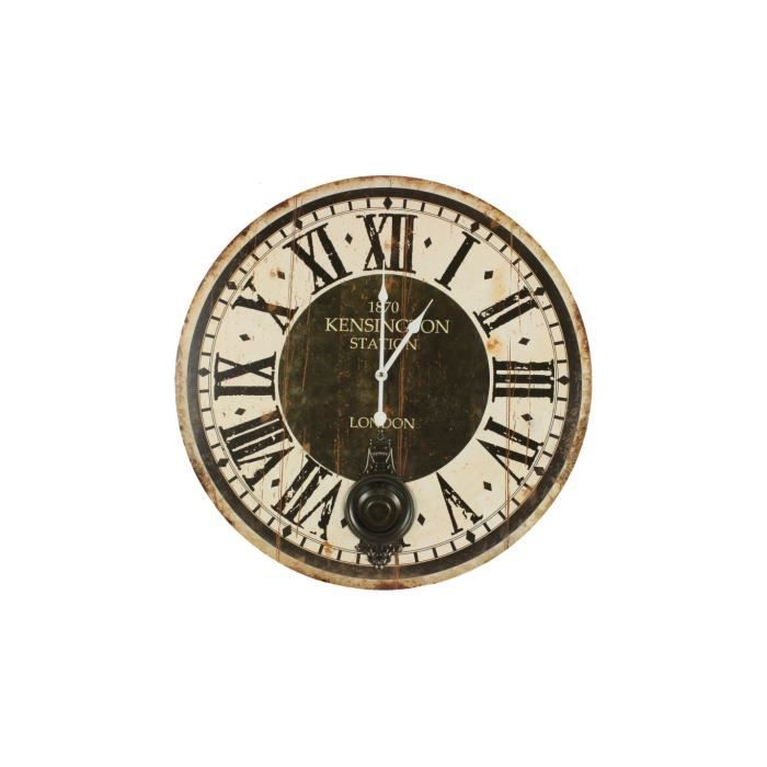 horloge ancienne balancier 1870 kesington stati achat vente horloge bois cdiscount. Black Bedroom Furniture Sets. Home Design Ideas