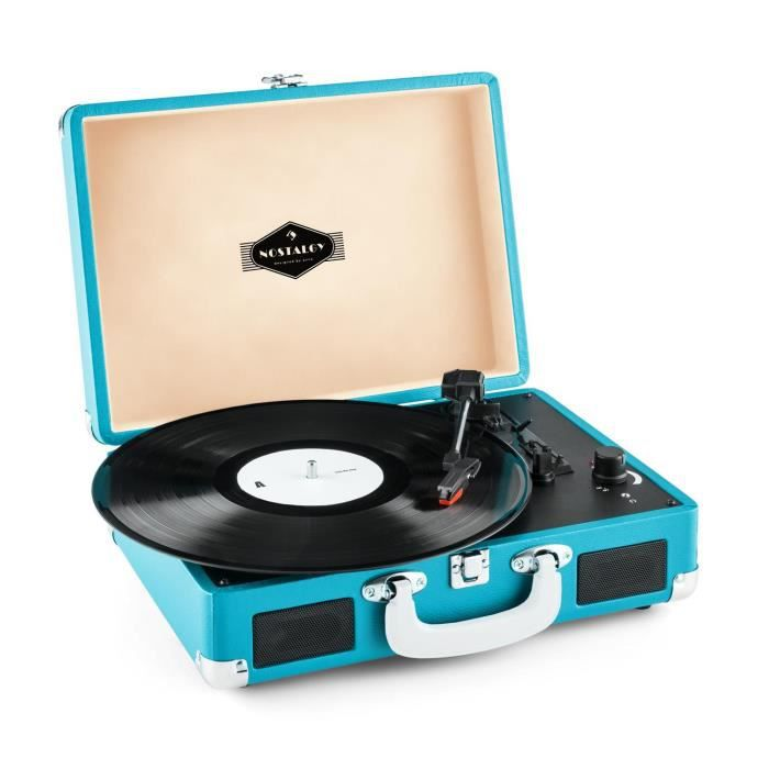 auna peggy sue platine vinyle portable design valise vintage avec 2 haut parleurs usb pour. Black Bedroom Furniture Sets. Home Design Ideas