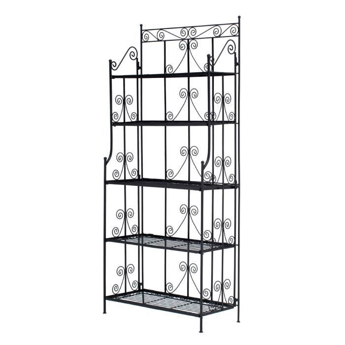 etagere en fer forge achat vente etagere en fer forge pas cher cdiscount. Black Bedroom Furniture Sets. Home Design Ideas