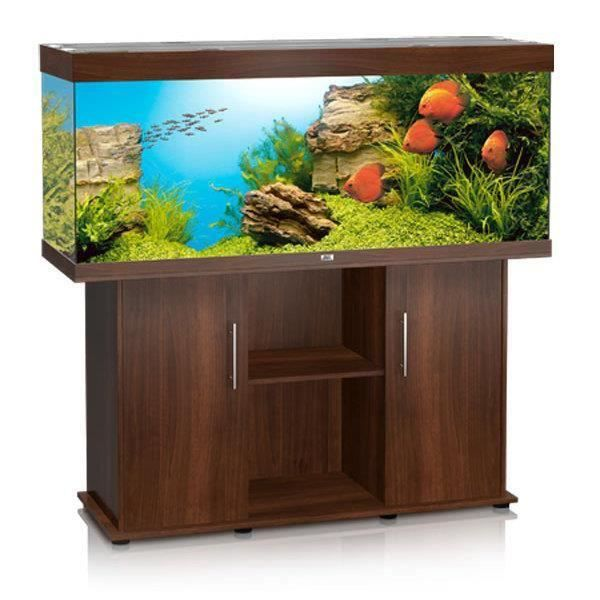 juwel aquarium rio 400 bois brun avec meuble avec portes. Black Bedroom Furniture Sets. Home Design Ideas