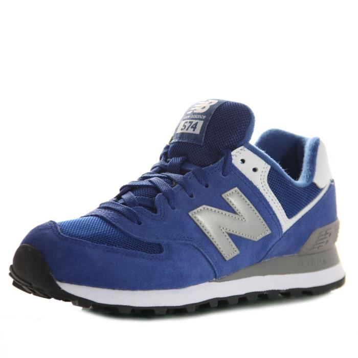 new balance baskets homme cuir 574 bleu bleu achat vente basket cdiscount. Black Bedroom Furniture Sets. Home Design Ideas