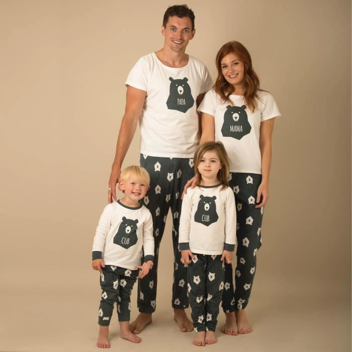 pyjama famille achat vente pyjama famille pas cher cdiscount. Black Bedroom Furniture Sets. Home Design Ideas