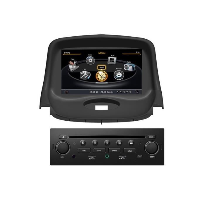 autoradio gps bluetooth pour peugeot 206 206 cc 206 sw achat vente autoradio autoradio gps. Black Bedroom Furniture Sets. Home Design Ideas