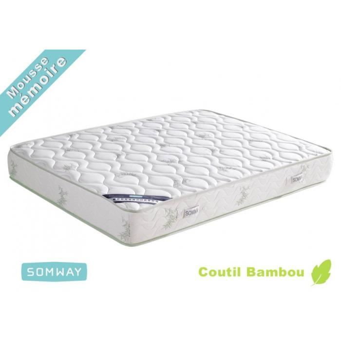 matelas mousse bambootech dimensions 140 x 190 achat vente matelas cdiscount. Black Bedroom Furniture Sets. Home Design Ideas