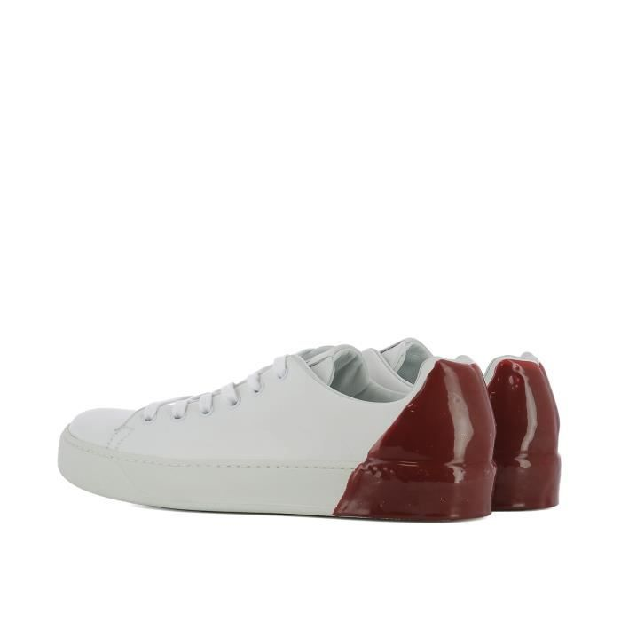 PREMIATA HOMME 31036POLOBIANCOROSSO BLANC/ROUGE CUIR BASKETS