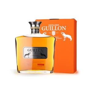 WHISKY BOURBON SCOTCH Guillon finition Tourbé Fort 70cl - Etui - Whisky