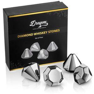WHISKY BOURBON SCOTCH Dragon Verrerie Diamant pierres à whisky - Premium