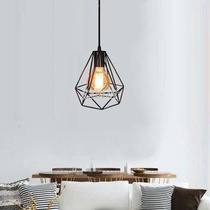 LUSTRE ET SUSPENSION EXBON Lampe de Plafond E27 Cage Lustre Abat-jour M