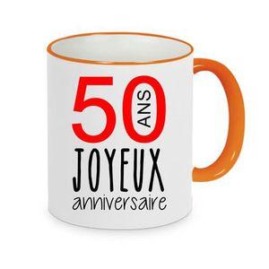 BOL - MUG - MAZAGRAN mug - Céramique - Orange LMK JOYEUX ANNIVERSAIRE 5