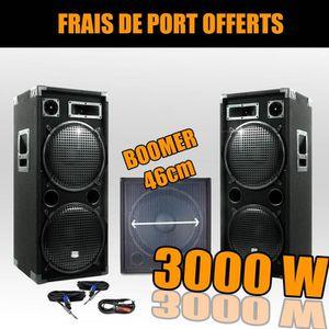 PACK SONO Pack 18215 Sonorisation 3000W Caisson bi-amplifié