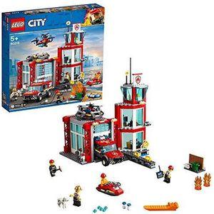ASSEMBLAGE CONSTRUCTION LEGO City - La caserne de pompiers - 60215 - Jeu d
