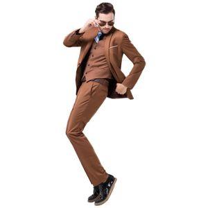 COSTUME - TAILLEUR Costume Cérémonie Homme 3 Pieces Mode Costume Col