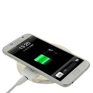 CHARGEUR TÉLÉPHONE Chargeur Induction sans fil blanc et transparent