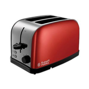 GRILLE-PAIN - TOASTER Russell Hobbs 18781 Rouge 2 Tranches Larges Fentes