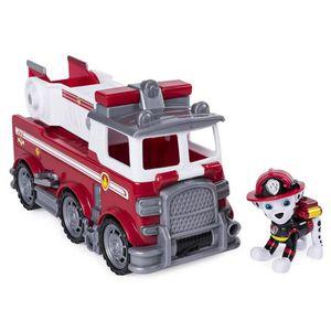 FIGURINE - PERSONNAGE PAT PATROUILLE Véhicule Camion de Pompier de Marcu
