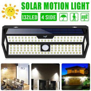 APPLIQUE EXTÉRIEURE TEMPSA Lampe solaire 132 LED détecteur mouvement i