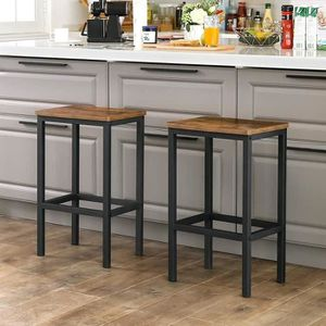 TABOURET DE BAR VASAGLE Lot de 2 Chaises de Bar - Tabourets Hauts