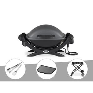 BARBECUE  	Barbecue électrique Weber Q 1400 + Kit Ustensile