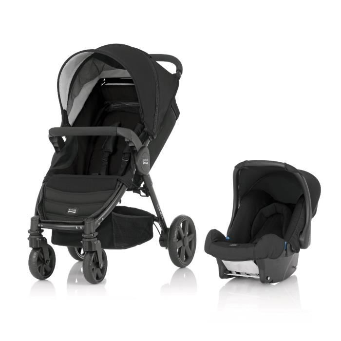 britax poussette b agile 4 si ge auto black black. Black Bedroom Furniture Sets. Home Design Ideas