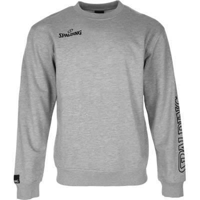SPALDING Sweatshirt de basket-ball Team II Crewneck - Homme - Gris chiné