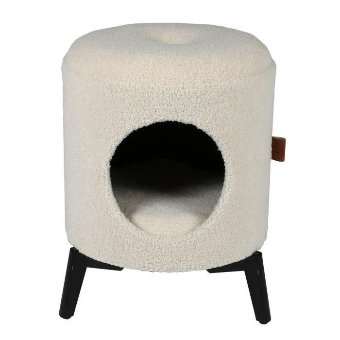 D&D Maison Jean - Blanc - 35 x 35 x 48 cm - 3,75 kg - Pour chat