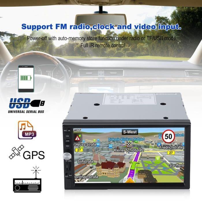 ASS. Autoradio Bluetooth Voiture Stéréo, Hd 7 -Voiture Mp5 Mp3 Lecteur Professionnel D'Écran Tactile Radio De Navigation Gps, Fm Rad
