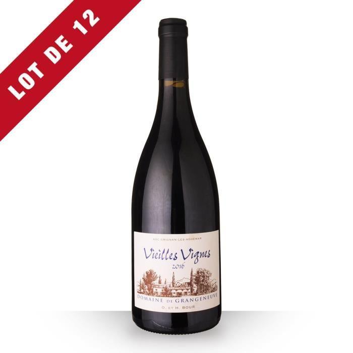 Lot de 12 - Domaine de Grangeneuve Vieilles Vignes 2016 AOC Grignan-Les-Adhémar - 12x75cl - Vin Rouge