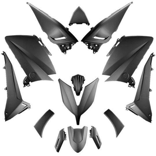 Carrosserie maxi scooter tun'r kit adapt. 530 yamaha tmax noir mat 2015-2017 (14 pieces)