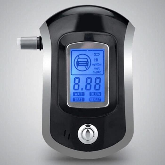 Éthylotest Testeur d'Alcool Professionnel Numérique - Alcootest Électronique Portable - Ecran LCD - Digital Breath - Indication d