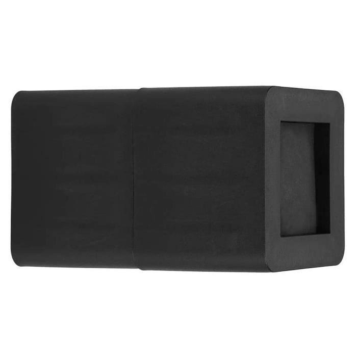 Akozon rehausseurs de table Rehausseur Jambe Meuble Elévateur Antidérapant en Plastique PP Noir pour Canapé Table Bureau Lit