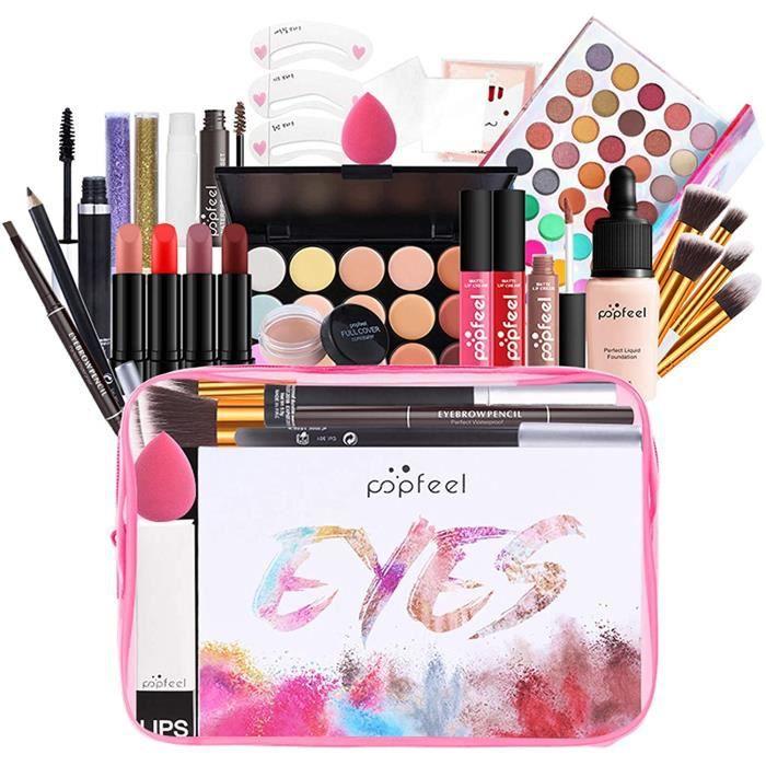 kit de maquillage mallette de maquillage palette set coffret cadeau coffret ensemble de beauty maquillage - idéal cosmétique 27