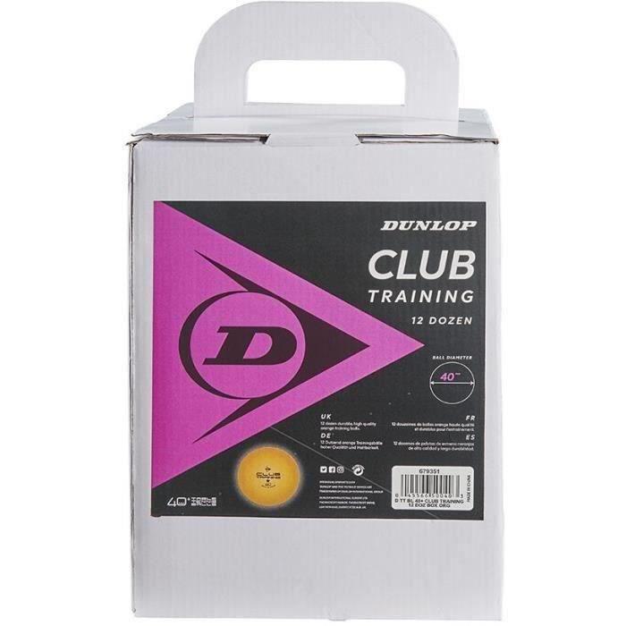 Balle de tennis de table - DUNLOP - 40+ CLUB TRAINING 12 BOX ORANGE