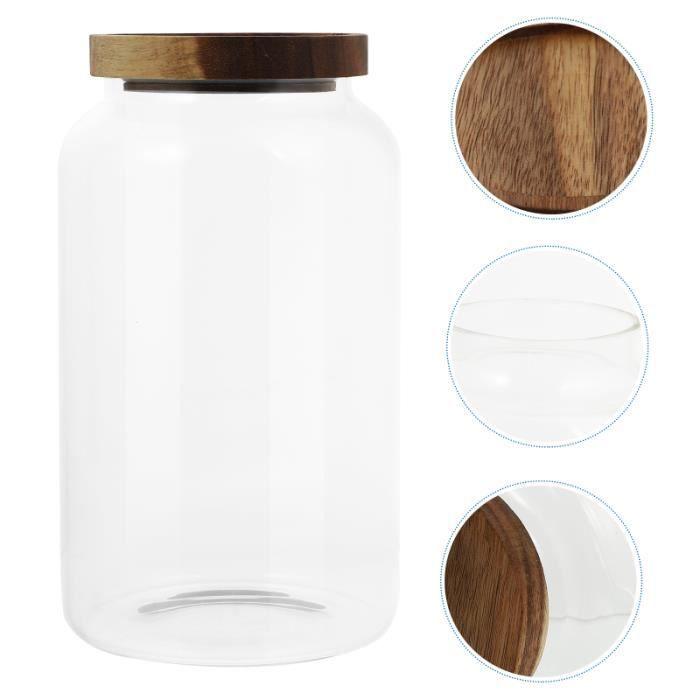 1 PC 1950 Pot de stockage à l'humidifiant du pot Avec Couvercle (transparent) cafe en grains cafe the et infusion