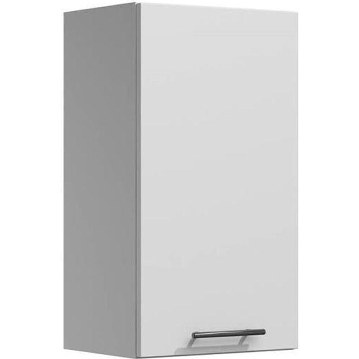 LILA - Meuble de cuisine haut 40 cm 1 porte blanc