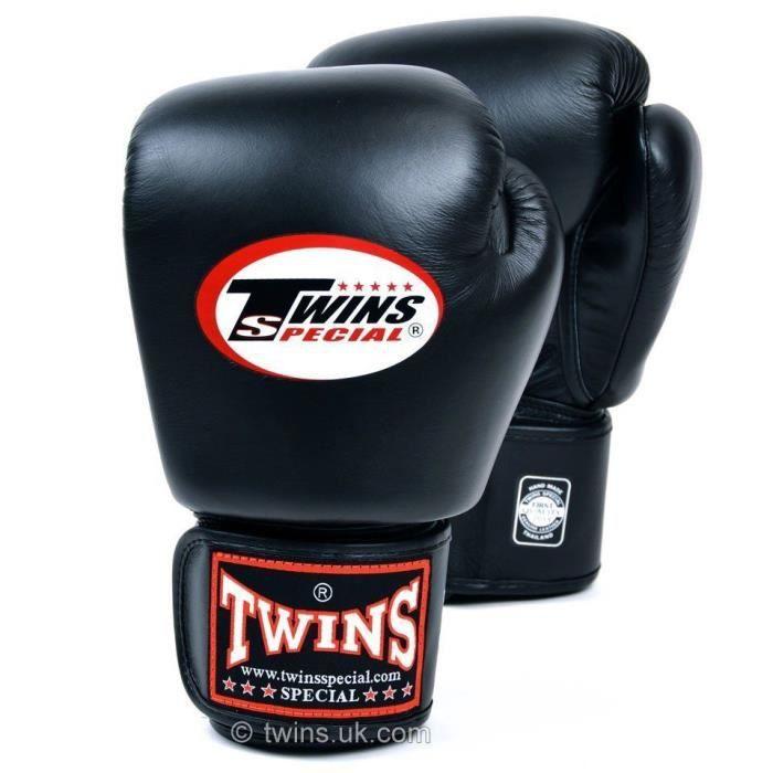 Gants de boxe Twins - Noir - 10oz