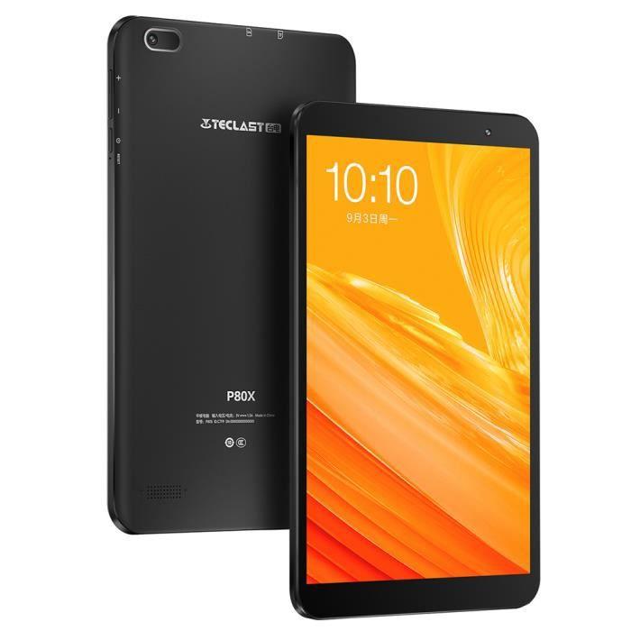 Tablette Tactile 4G Teclast P80x 8,0 Pouces Ram 2 Go Android 9,0 Stockage 32 Go Wifi 2,4Ghz Bluetooth Noir