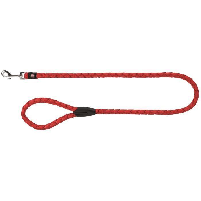 TRIXIE Cavo laisse S–M : 1 m - ø 12 mm - Rouge - Pour chien