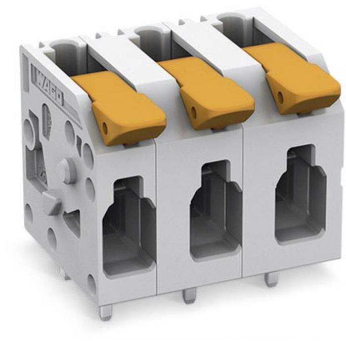 Borne pour circuits imprimés WAGO 2604-1302 4 mm² Nombre total de pôles 2 1 pc(s)