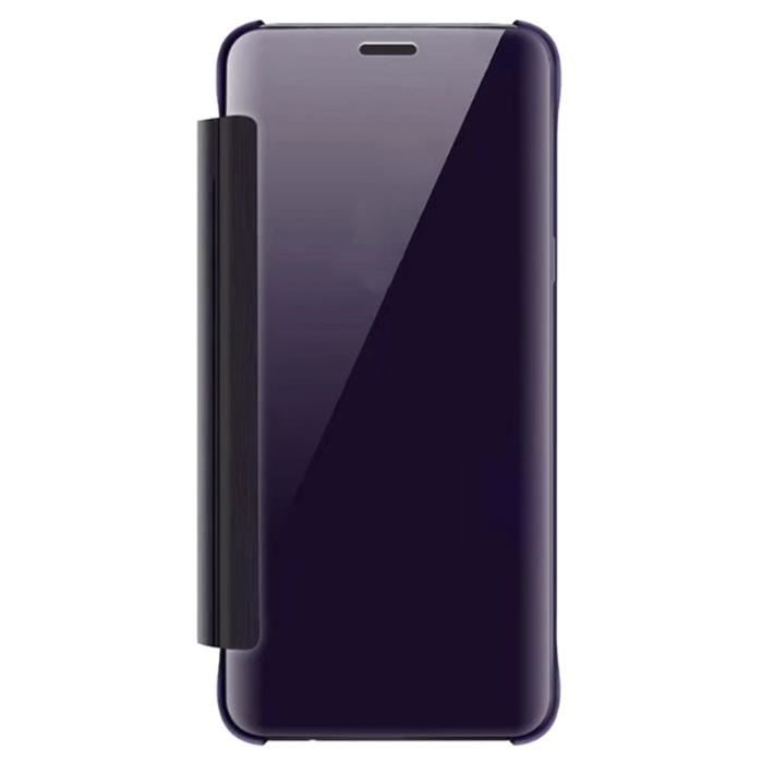 Clear View Mirror Cover Stand Coque pour Samsung Galaxy S9 Plus - Violet
