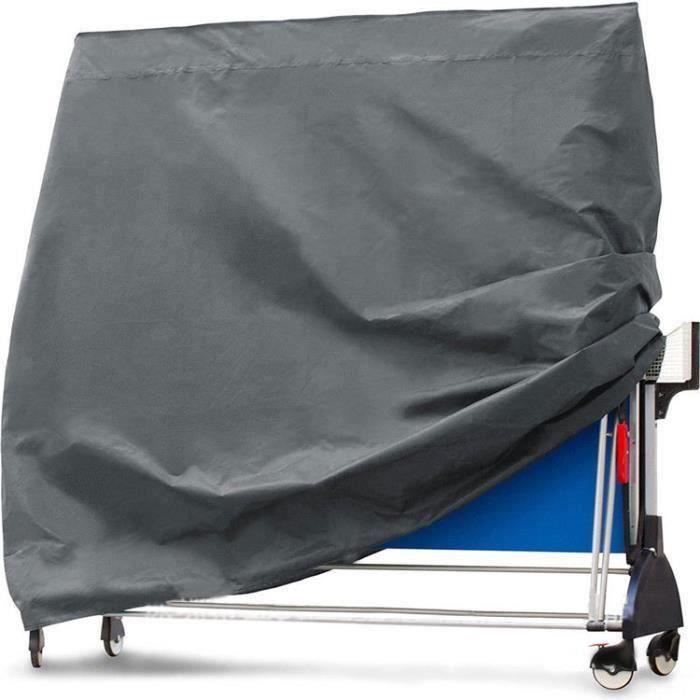 QZ-Housse de Protection pour Table de Ping-Pong résistant à l'eau 165x70x185cm
