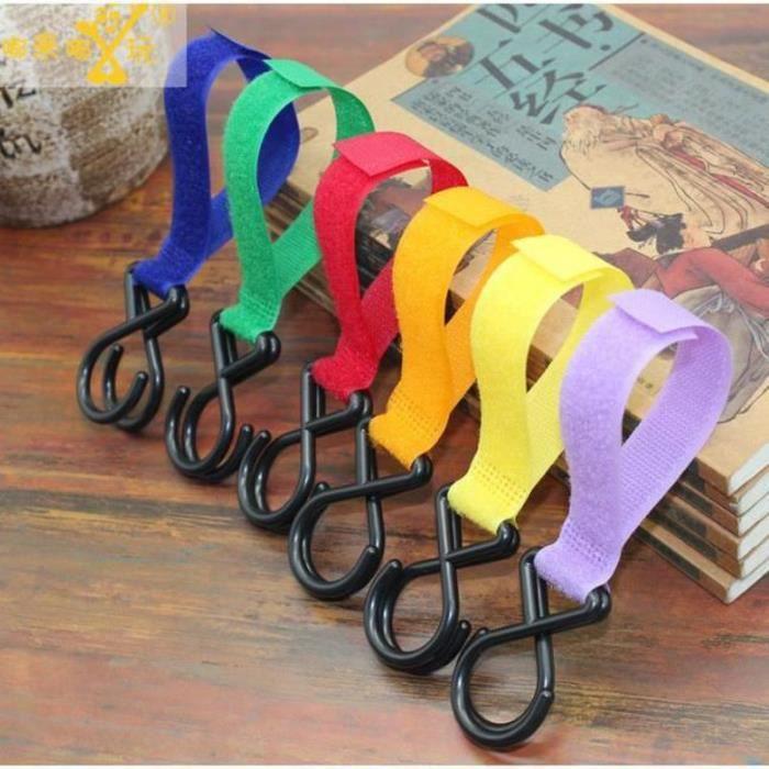 RS04055-10pcs Crochet Poussette Bébé Pratique Poussette Accessoires Crochet Pour Poussettes Bébé- Sacs à langer, Crochet pour Pous
