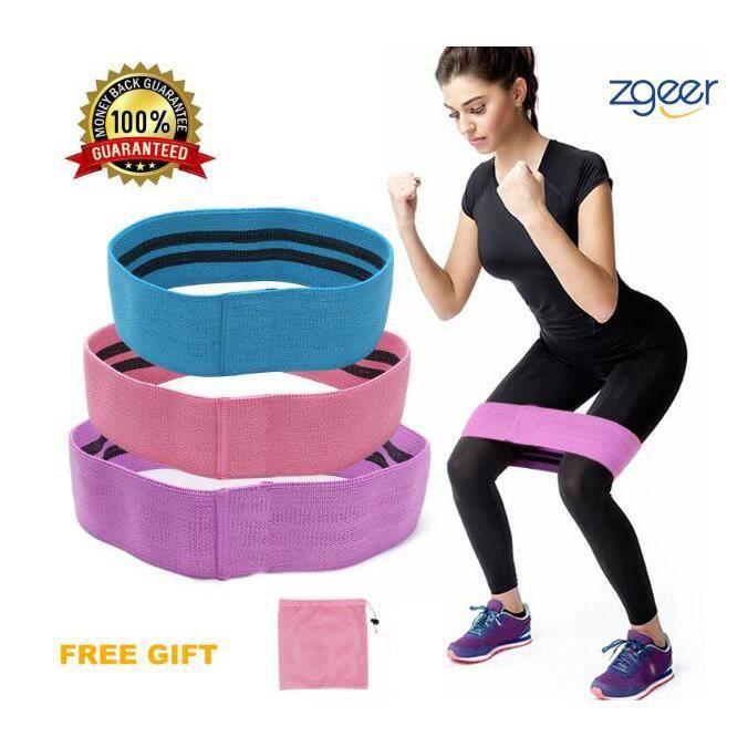 Bande de Resistance Set (3) - Loop Bande Elastique Fitness Équipement d'Exercices pour Musculation Pilates Squat Sport