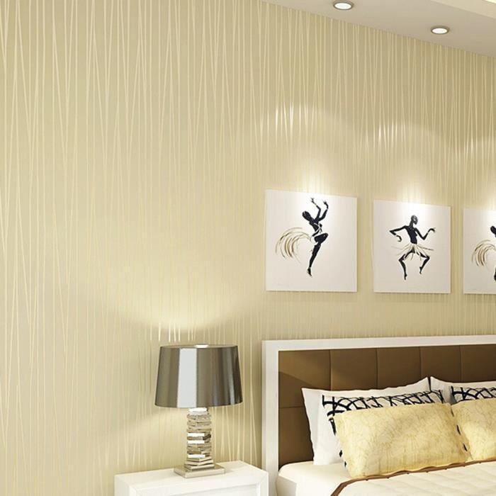 10m papier peint chambre salon mur moderne télévision fond décoration beige  jaune