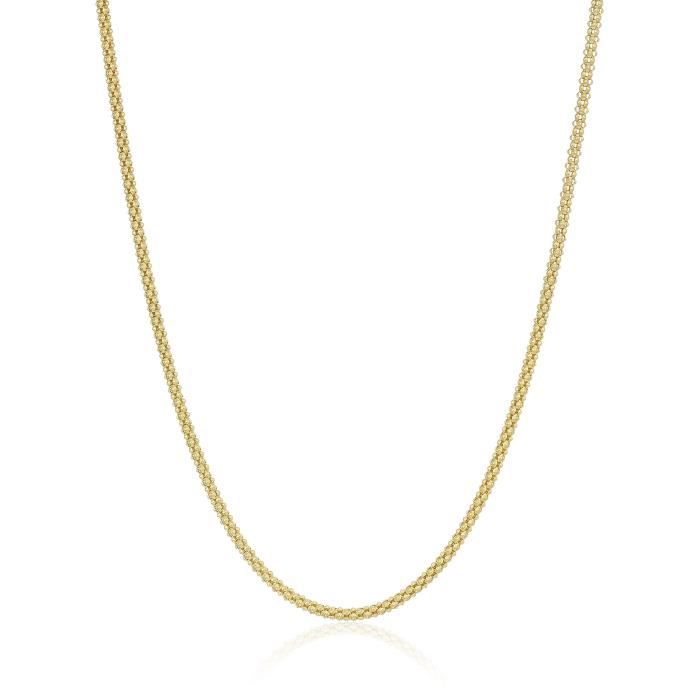 14k Yellow Gold 1.6mm Fancy Chain Necklace, 20 TMGQ9