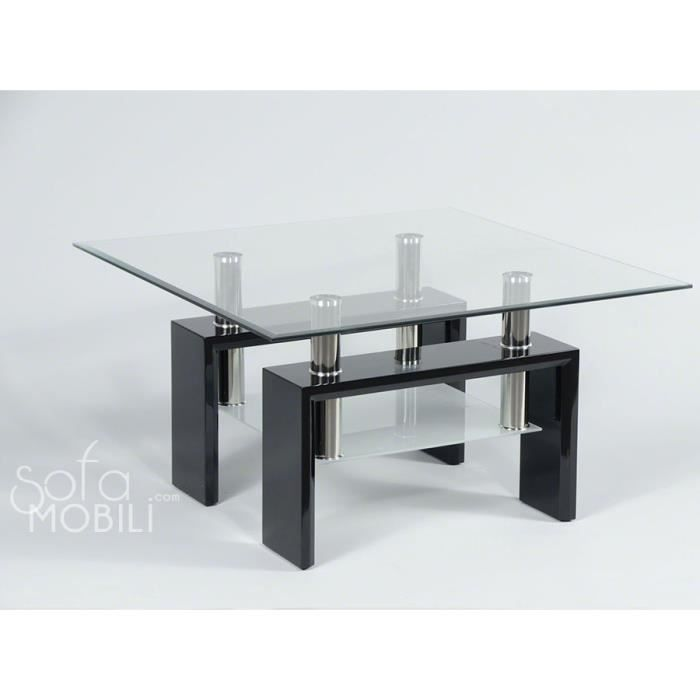table en verre carree maison design. Black Bedroom Furniture Sets. Home Design Ideas