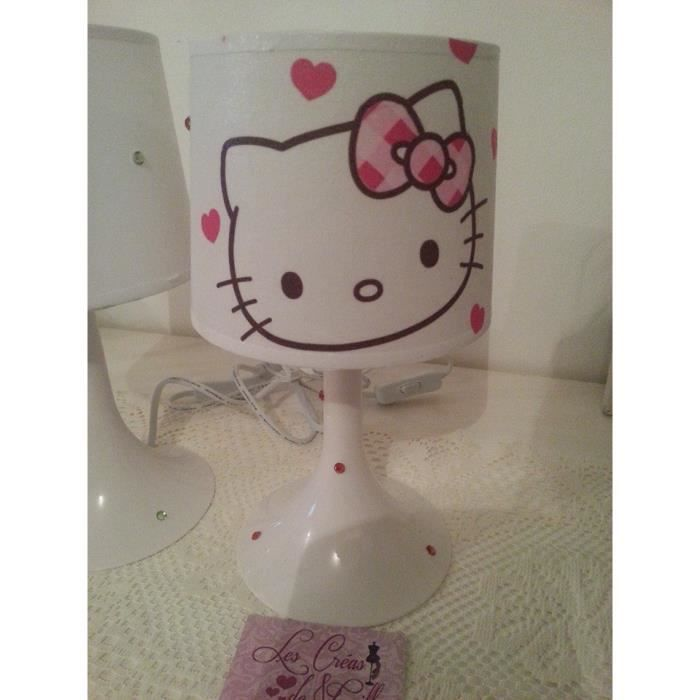lampe hello kitty strass achat vente lampe hello kitty strass cdiscount. Black Bedroom Furniture Sets. Home Design Ideas