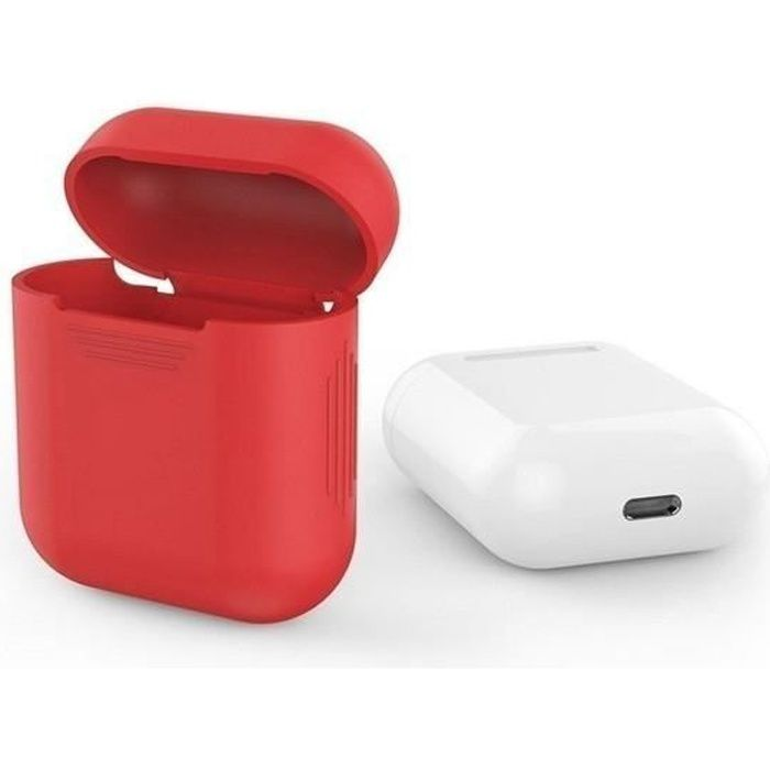 Coque Silicone Pour Airpods 2 Apple Boitier De Charge Grip Housse Protection Rouge Cdiscount Auto